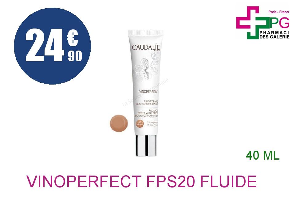 Achetez VINOPERFECT FPS20 Fluide peau parfaite teinté 02 medium Tube de 40ml