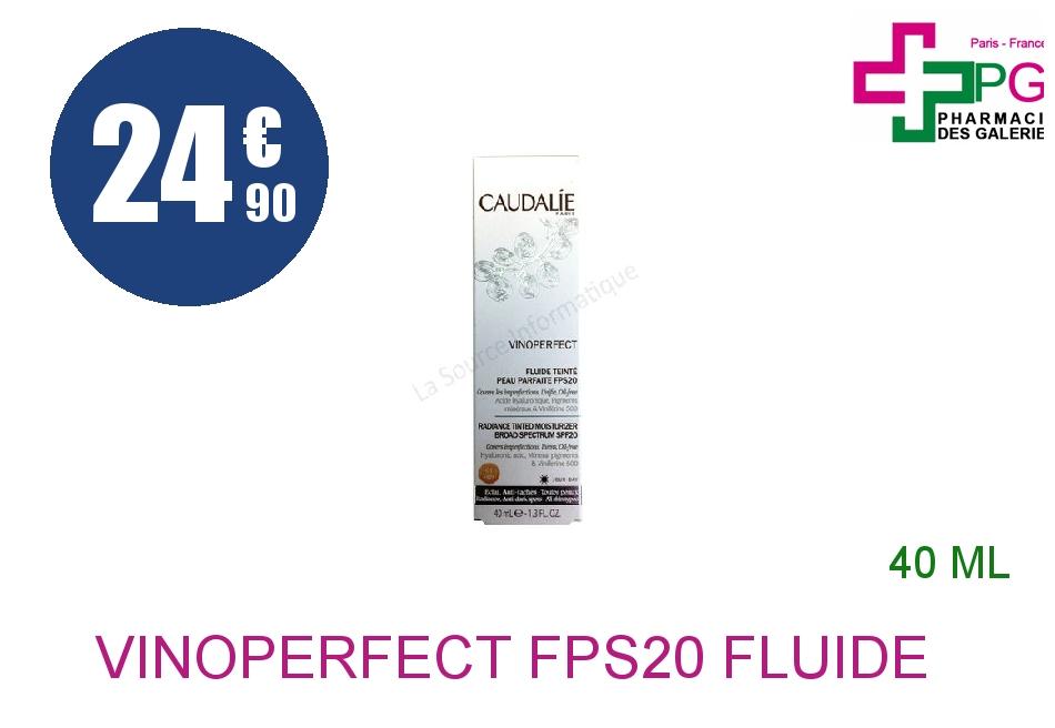 Achetez VINOPERFECT FPS20 Fluide peau parfaite teinté 01 light Tube de 40ml