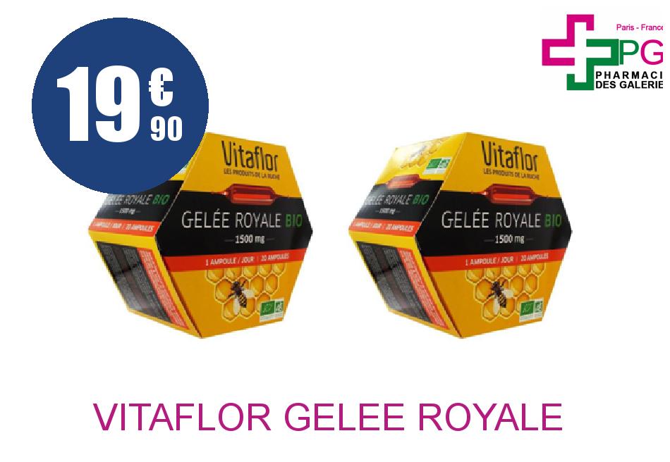 Achetez VITAFLOR GELEE ROYALE 1500MG BIO LOT 2 BTS