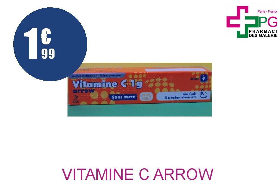Achetez VITAMINE C ARROW 1g Comprimé Effervescent Boîte de 20
